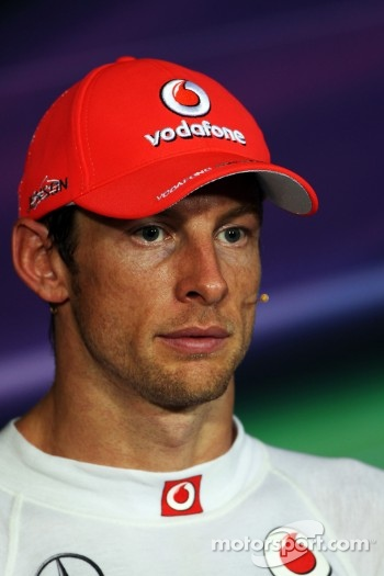 FIA press conference: second place Jenson Button, McLaren Mercedes