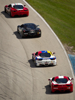 #64 Ferrari of Ft Lauderdale 458CS: Frank Fusillo, #14 Ferrari of San Diego 458CS: Brent Lawrence, #59 Ferrari of Ft Lauderdale 458CS: Maurizio Scala, #5 Ferrari of Atlanta 458CS: Jim Booth