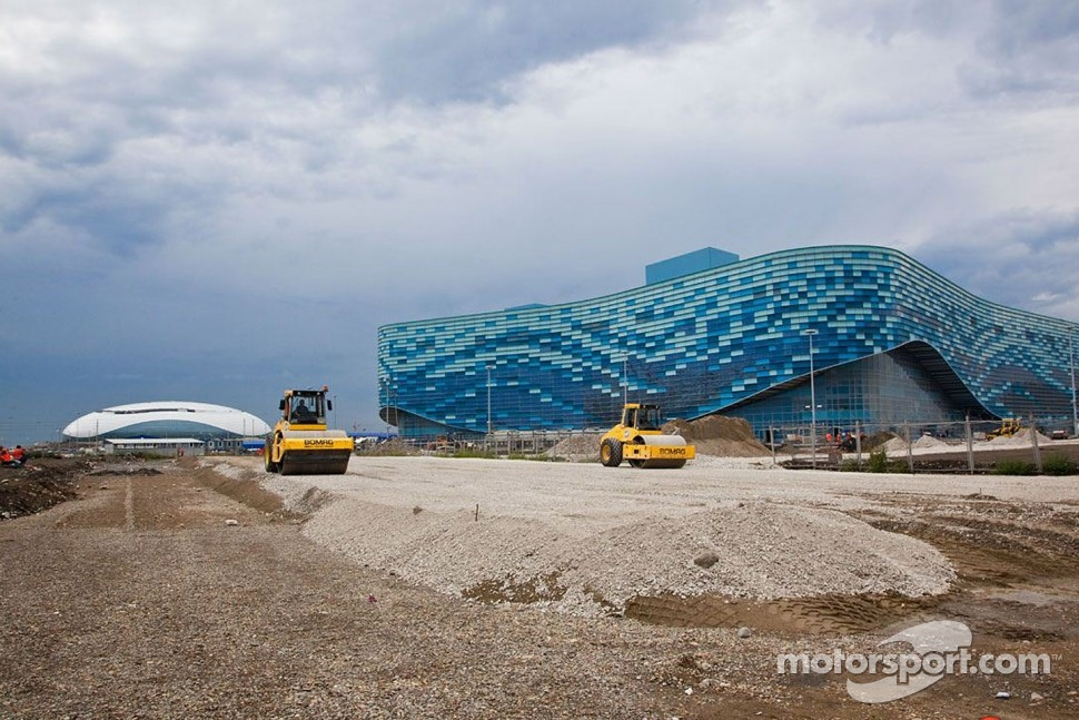 Construction of Sochi F1 track