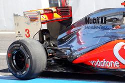 McLaren MP4/27 rear wing and rear suspension of Jenson Button, McLaren