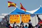 Banners for Pedro De La Rosa, HRT Formula 1 Team and Dani Clos, HRT Formula One Team Test Driver