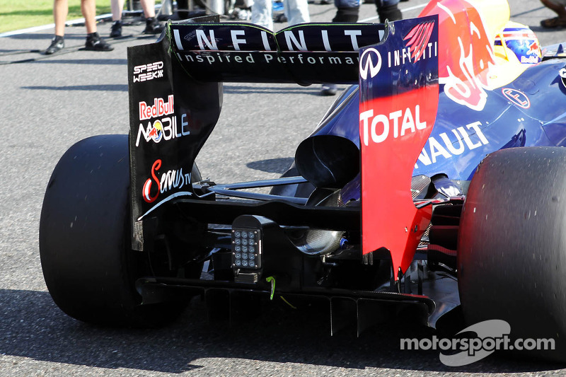 Mark Webber, Red Bull Racing rear wing detail