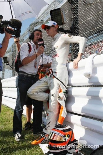 Will Buxton, Speed TV and Nico Hulkenberg, Sahara Force India Formula One Team
