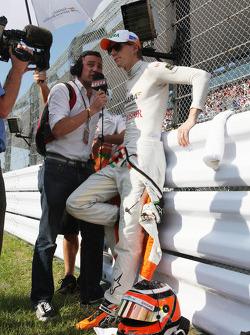 Will Buxton, Speed TV and Nico Hulkenberg, Sahara Force India Formula One Team