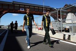 Vitaly Petrov, Caterham walks the circuit