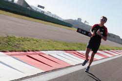 Max Chilton, Marussia F1 Team Reserve Driver runs the track