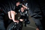 Ben Bowlby and Gunnar Jeannette check front tire of the #0 Nissan Delta Wing Delta Wing Project 56 Nissan