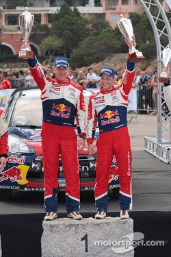 Winners Mikko Hirvonen and Jarmo Lehtinen, Citron DS3 WRC, Citron Total World Rally Team