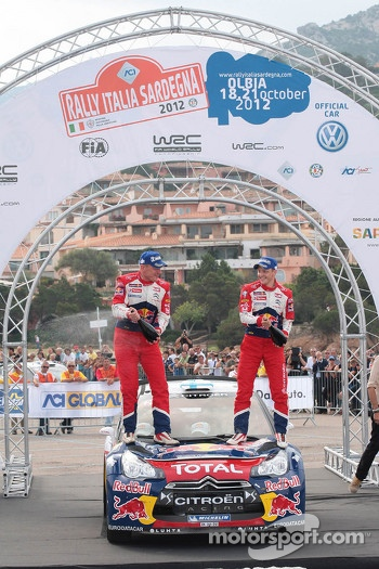 Winners Mikko Hirvonen and Jarmo Lehtinen, Citroën DS3 WRC, Citroën Total World Rally Team