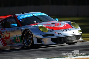 Nick Tandy at Petit Le Mans with the #44 Flying Lizard Motorsports Porsche 911 GT3 RSR