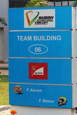 Ferrari team building sign