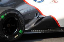 Sauber exhaust detail