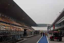 Quiet paddock at Shanghai Circuit