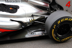 McLaren of Lewis Hamilton, McLaren exhaust and floor detail