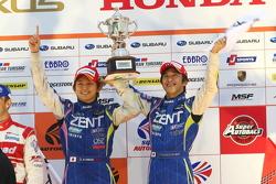 GT500 podium: winners Yuji Tachikawa, Kohei Hirate