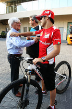Felipe Massa, Ferrari with Bernie Ecclestone, CEO Formula One Group
