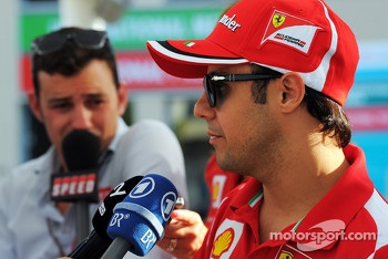 Felipe Massa, Ferrari with the media