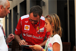 Stefano Domenicali, Ferrari General Director signs autographs for the fans