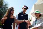 Pastor Maldonado, Williams and Gabriella Tarkany sign autographs for the fans