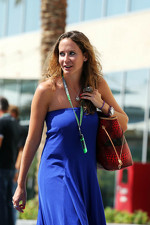 Catherine Hyde, girlfriend of Heikki Kovalainen, Caterham