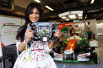 Chitrangada Singh, Bollywood Actress with the Sahara Force India F1 Team