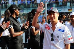 Kamui Kobayashi, Sauber on the drivers parade