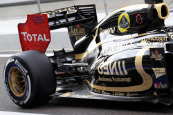 Davide Valsecchi, Lotus F1 Test Driver rear wing and exhaust detail