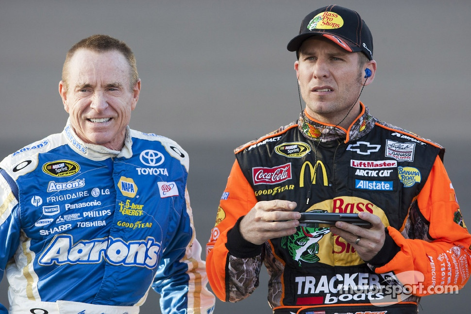 Jamie McMurray and Mark Martin