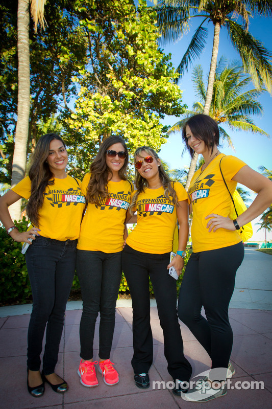 Charming NASCAR girls