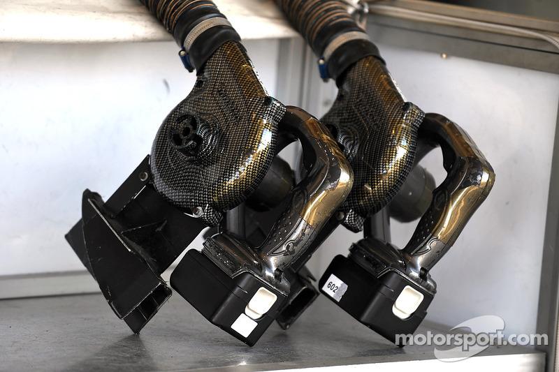 Sauber F1 Team cooling fans