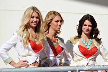 Lovely podium girls