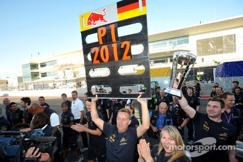 The Red Bull Racing team celebrate the constructors championship