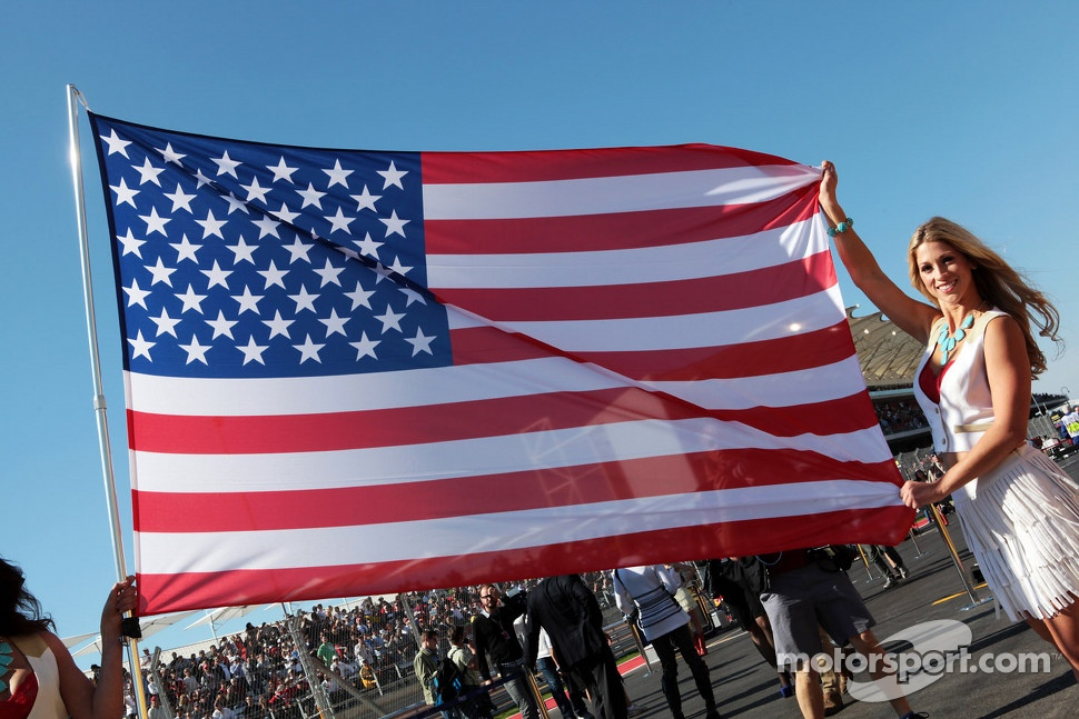 USA flag on the grid