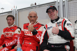 Alexey Dudukalo, SEAT Leon WTCC, Lukoil Racing Team, Gabriele Tarquini, SEAT Leon WTCC, Lukoil Racing Team and Tom Boardman, SEAT Leon WTCC,  Special Tuning Racing