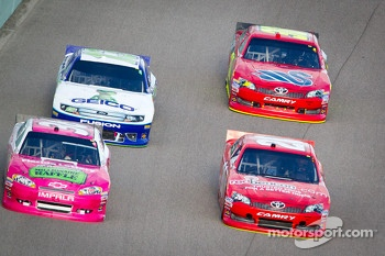 Dave Blaney, Tommy Baldwin Racing Chevrolet, Joey Logano, Joe Gibbs Racing Toyota, Casey Mears, Germain Racing Ford, David Stremme, Inception Motorsports Toyota