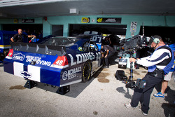 A spectacular steady cam rig shooting the car of Jimmie Johnson, Hendrick Motorsports Chevrolet