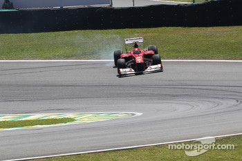 Felipe Massa, Ferrari recovers from a spin