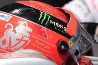 Der Helm von Michael Schumacher, Mercedes AMG F1, für sein letztes Formel-1-Rennwochenende