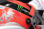 A message on the side of Michael Schumacher, Mercedes AMG Petronas helmet