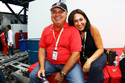 Luiz Antonio Massa, mother and father of Felipe Massa, Ferrari