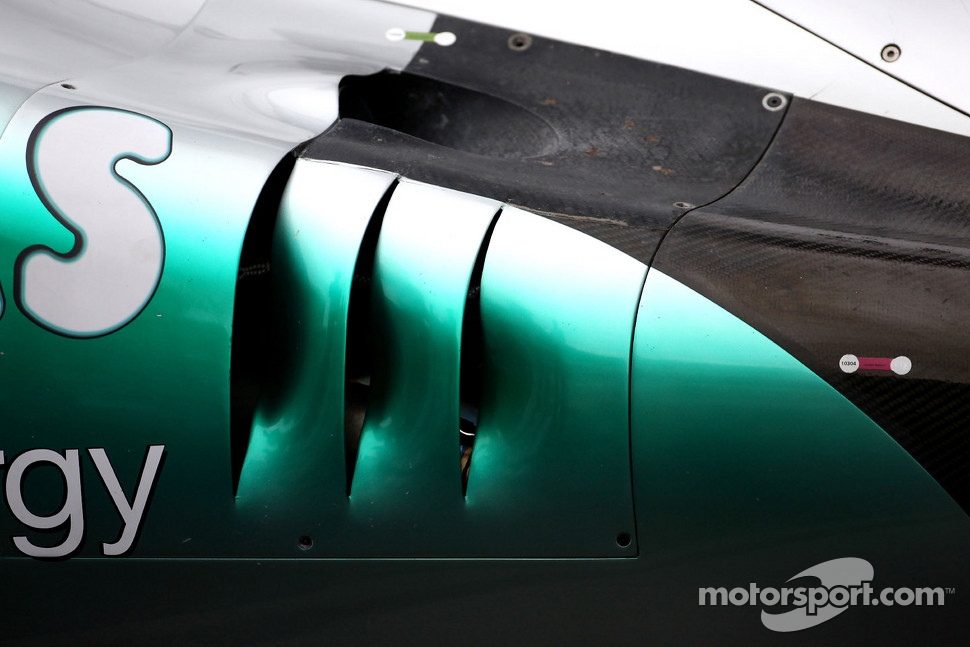Mercedes GP exhaust detail