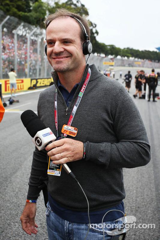 Rubens Barrichello, on the grid