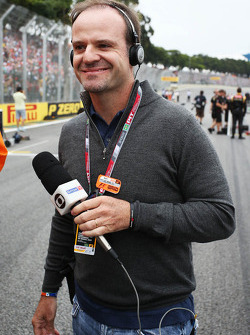 Rubens Barrichello, on the grid