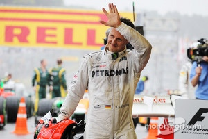 Michael Schumacher, Mercedes AMG F1 says goodbye to F1 in parc ferme