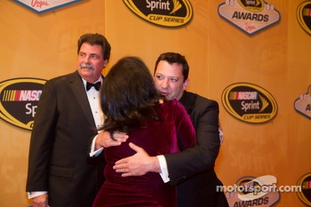 Tony Stewart and Mike Helton