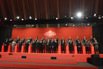 Ferrari drivers and dignitaries at the Ferrari Gala