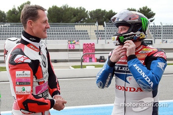 Michael Schumacher and John McGuinness
