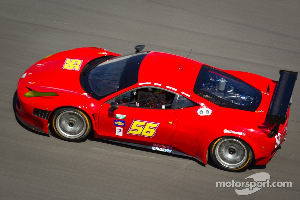 #56 AF - Waltrip Ferrari 458: Rui Aguas, Clint Bowyer, Robert Kauffman, Michael Waltrip