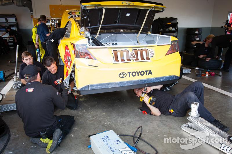 Wrecked car of Kyle Busch, Joe Gibbs Racing Toyota