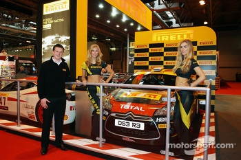The Citroen DS3 R3 to be driven by Mark Donnelly in the British Rally Championship is unveiled at the Pirelli stand